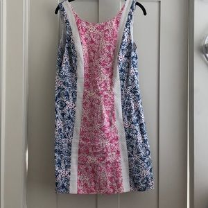 Lily Pulitzer pink and blue dress with bows